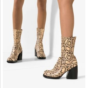 Chloé 💘 Adele 90 Snake Print Leather Ankle Boots